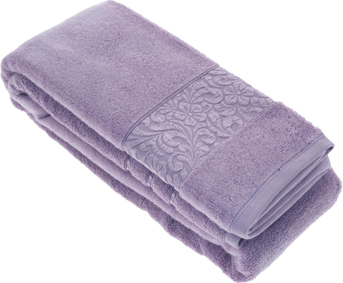 Полотенце бамбуковое Issimo Home Valencia, цвет: фиолетовый, 90 x 150 см4790Полотенце Issimo Home Valencia выполнено из 60% бамбукового волокна и 40% хлопка. Таким полотенцем не нужно вытираться - только коснитесь кожи - и ткань сама все впитает. Такая ткань впитывает в 3 раза лучше, чем хлопок. Несмотря на высокую плотность, полотенце быстро сохнет, остается легкими даже при намокании. Изделие имеет красивый жаккардовый бордюр, оформленный цветочным орнаментом. Благородный, классический тон создаст уют и подчеркнет лучшие качества махровой ткани, а сочный, яркий, летний оттенок создаст ощущение праздника и наполнит дом энергией. Красивая, стильная упаковка этого полотенца делает его уже готовым подарком к любому случаю.