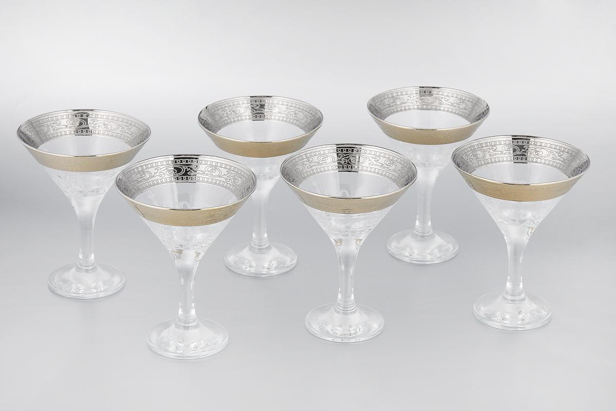 Набор бокалов для мартини Мусатов Венеция, 170 мл, 6 шт410/32Набор Мусатов Венеция состоит из 6 бокалов, изготовленных из высококачественного стекла. Изделия оформлены оригинальной окантовкой и предназначены для подачи мартини. Такой набор прекрасно дополнит праздничный стол и станет желанным подарком в любом доме. Разрешается мыть в посудомоечной машине. Диаметр бокала (по верхнему краю): 10,7 см. Высота бокала: 13,7 см. Диаметр основания бокала: 6,5 см.