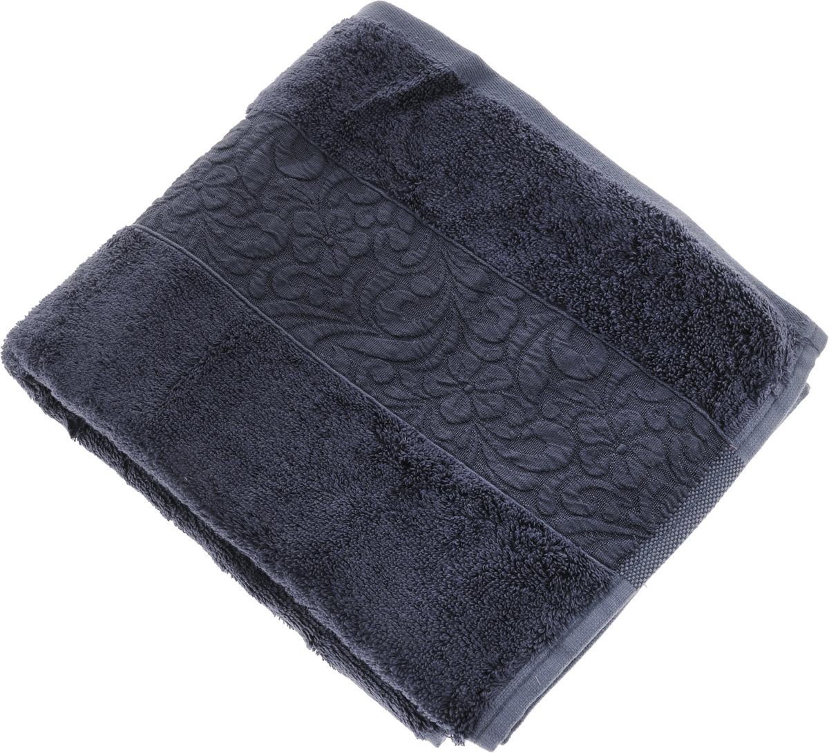 Полотенце бамбуковое Issimo Home Valencia, цвет: темно-синий, 50 x 90 см4812Полотенце Issimo Home Valencia выполнено из 60% бамбукового волокна и 40% хлопка. Таким полотенцем не нужно вытираться - только коснитесь кожи - и ткань сама все впитает. Такая ткань впитывает в 3 раза лучше, чем хлопок. Несмотря на высокую плотность, полотенце быстро сохнет, остается легкими даже при намокании. Изделие имеет красивый жаккардовый бордюр, оформленный цветочным орнаментом. Благородные, классические тона создадут уют и подчеркнут лучшие качества махровой ткани, а сочные, яркие, летние оттенки создадут ощущение праздника и наполнят дом энергией. Красивая, стильная упаковка этого полотенца делает его уже готовым подарком к любому случаю.