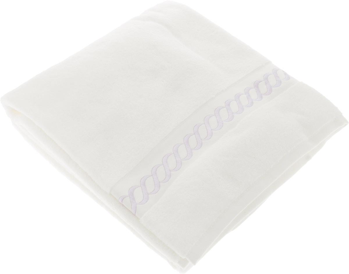 Полотенце махровое Issimo Home Pauline, цвет: белый, лиловый, 90 x 150 см531-401Полотенце Issimo Home Pauline выполнено из натуральной махровой ткани (100% хлопок). Изделие отлично впитывает влагу, быстро сохнет и не теряет форму даже после многократных стирок. Рекомендации по уходу:- режим стирки при 40°C,- допускается обычная химчистка,- отбеливание запрещено,- глажка при температуре подошвы утюга до 110°С,- барабанный отжим запрещен.Размер полотенца: 90 x 150 см.