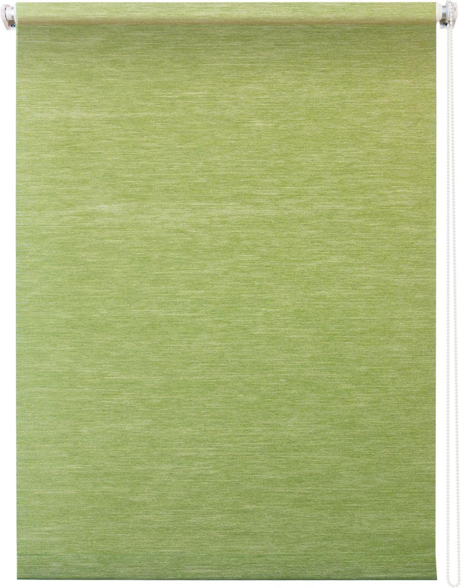 Штора рулонная Уют Концепт, цвет: зеленый, 80 х 175 см10503Штора рулонная Уют Концепт выполнена из прочного полиэстера с обработкой специальным составом, отталкивающим пыль. Ткань не выцветает, обладает отличной цветоустойчивостью и светонепроницаемостью.Штора закрывает не весь оконный проем, а непосредственно само стекло и может фиксироваться в любом положении. Она быстро убирается и надежно защищает от посторонних взглядов. Компактность помогает сэкономить пространство. Универсальная конструкция позволяет крепить штору на раму без сверления, также можно монтировать на стену, потолок, створки, в проем, ниши, на деревянные или пластиковые рамы. В комплект входят регулируемые установочные кронштейны и набор для боковой фиксации шторы. Возможна установка с управлением цепочкой как справа, так и слева. Изделие при желании можно самостоятельно уменьшить. Такая штора станет прекрасным элементом декора окна и гармонично впишется в интерьер любого помещения.