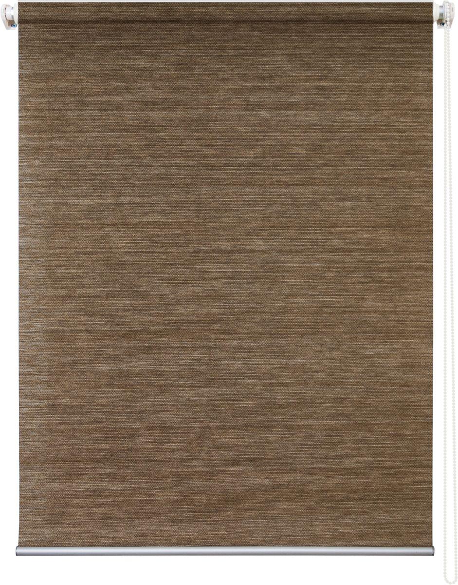 Штора рулонная Уют Концепт, цвет: коричневый, 100 х 175 см10503Штора рулонная Уют Концепт выполнена из прочного полиэстера с обработкой специальным составом, отталкивающим пыль. Ткань не выцветает, обладает отличной цветоустойчивостью и светонепроницаемостью.Штора закрывает не весь оконный проем, а непосредственно само стекло и может фиксироваться в любом положении. Она быстро убирается и надежно защищает от посторонних взглядов. Компактность помогает сэкономить пространство. Универсальная конструкция позволяет крепить штору на раму без сверления, также можно монтировать на стену, потолок, створки, в проем, ниши, на деревянные или пластиковые рамы. В комплект входят регулируемые установочные кронштейны и набор для боковой фиксации шторы. Возможна установка с управлением цепочкой как справа, так и слева. Изделие при желании можно самостоятельно уменьшить. Такая штора станет прекрасным элементом декора окна и гармонично впишется в интерьер любого помещения.