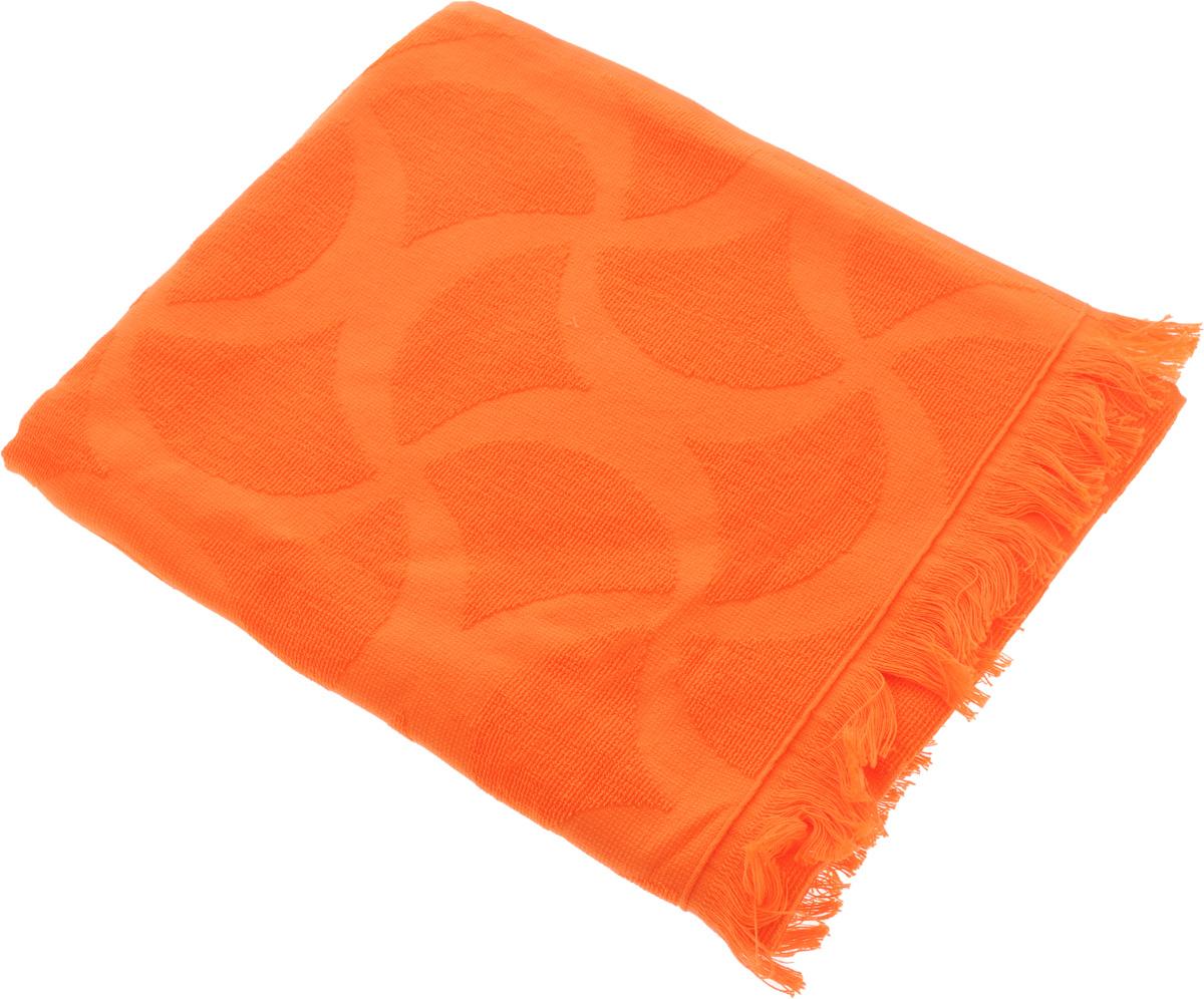 Полотенце Issimo Home Rondelle, цвет: оранжевый, 90 x 180 см5013Полотенце Issimo Home Rondelle выполнено из 100% хлопка. Изделие отлично впитывает влагу, быстро сохнет, сохраняет яркость цвета и не теряет форму даже после многократных стирок. Полотенце очень практично и неприхотливо в уходе. Оно прекрасно дополнит интерьер ванной комнаты.