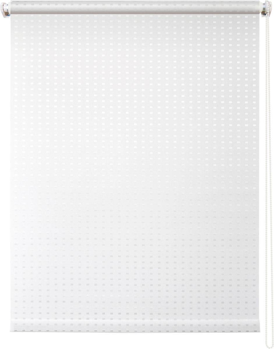 Штора рулонная Уют Плаза, цвет: белый, 80 х 175 см10503Штора рулонная Уют Плаза выполнена из прочного полиэстера с обработкой специальным составом, отталкивающим пыль. Ткань не выцветает, обладает отличной цветоустойчивостью и хорошей светонепроницаемостью. Изделие имеет оригинальный дизайн, отлично подойдет для спальни, кухни, гостиной, а также офиса или кабинета. Штора закрывает не весь оконный проем, а непосредственно само стекло и может фиксироваться в любом положении. Она быстро убирается и надежно защищает от посторонних взглядов. Компактность помогает сэкономить пространство. Универсальная конструкция позволяет крепить штору на раму без сверления, также можно монтировать на стену, потолок, створки, в проем, ниши, на деревянные или пластиковые рамы. В комплект входят регулируемые установочные кронштейны и набор для боковой фиксации шторы. Возможна установка с управлением цепочкой как справа, так и слева. Изделие при желании можно самостоятельно уменьшить. Такая штора станет прекрасным элементом декора окна и гармонично впишется в интерьер любого помещения.Светопроницаемость: 10-30%.