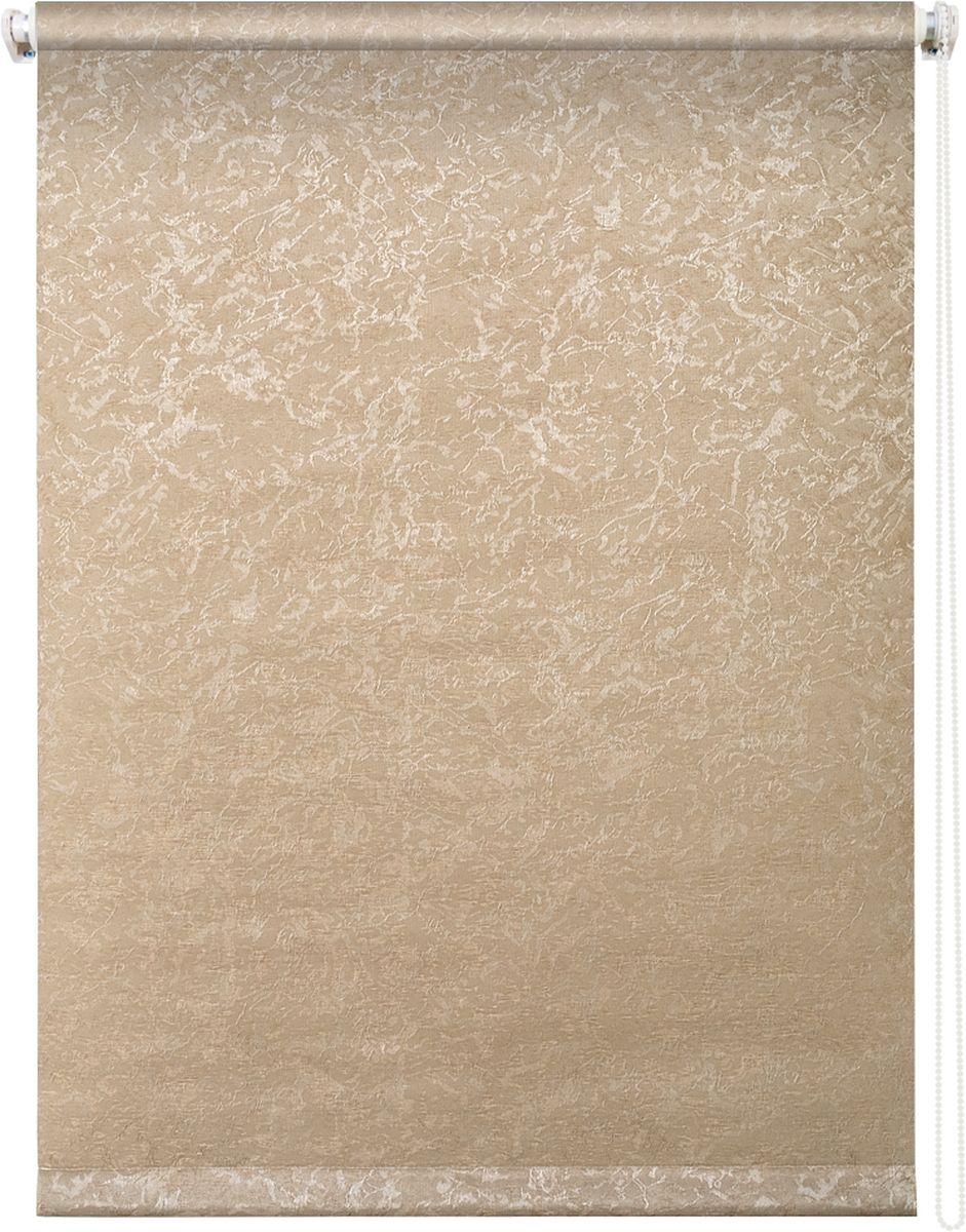 Штора рулонная Уют Фрост, цвет: латте, 100 х 175 см10503Штора рулонная Уют Фрост выполнена из прочного полиэстера с обработкой специальным составом, отталкивающим пыль. Ткань не выцветает, обладает отличной цветоустойчивостью и светонепроницаемостью.Штора закрывает не весь оконный проем, а непосредственно само стекло и может фиксироваться в любом положении. Она быстро убирается и надежно защищает от посторонних взглядов. Компактность помогает сэкономить пространство. Универсальная конструкция позволяет крепить штору на раму без сверления, также можно монтировать на стену, потолок, створки, в проем, ниши, на деревянные или пластиковые рамы. В комплект входят регулируемые установочные кронштейны и набор для боковой фиксации шторы. Возможна установка с управлением цепочкой как справа, так и слева. Изделие при желании можно самостоятельно уменьшить. Такая штора станет прекрасным элементом декора окна и гармонично впишется в интерьер любого помещения.