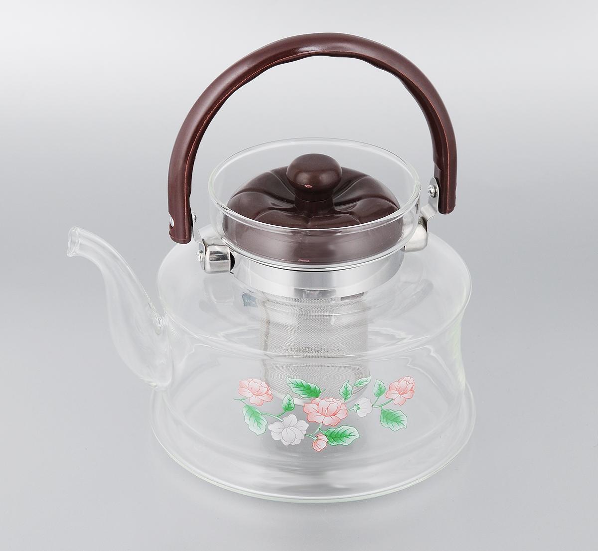 Чайник заварочный Mayer & Boch, с фильтром, 1,4 л. 2591CM000001328Заварочный чайник Mayer & Boch, выполненный из термостойкого стекла, предоставит вам все необходимые возможности для успешного заваривания чая. Изделие оснащено бакелитовой ручкой, крышкой и сетчатым фильтром из нержавеющей стали, который задерживает чаинки и предотвращает их попадание в чашку. Чай в таком чайнике дольше остается горячим, а полезные и ароматические вещества полностью сохраняются в напитке. Эстетичный и функциональный чайник будет оригинально смотреться в любом интерьере.Диаметр чайника (по верхнему краю): 9,5 см. Высота чайника (с учетом ручки и крышки): 19 см. Высота чайника (без учета ручки и крышки): 13 см. Высота фильтра: 7,5 см.