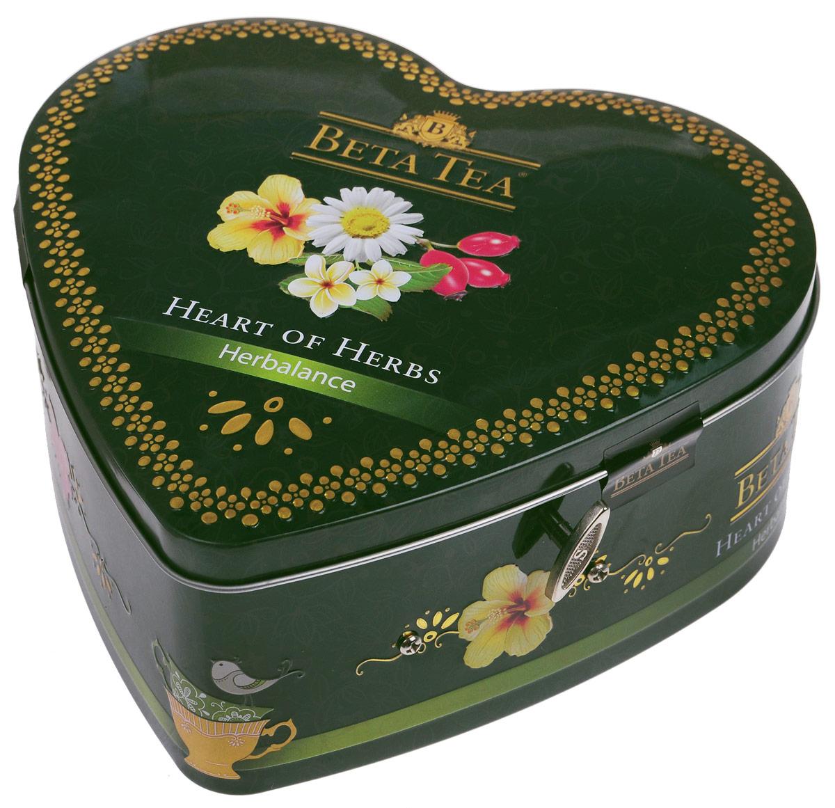Beta Tea Травяной чай в пакетиках, 40 шт (музыкальная шкатулка)8690717011394Сама природа подарила нам чайный набор Бета Травяной. Необычайно мягкие, бесконечно длящиеся вкусы чая Бета Травяной являются прекрасным средством профилактики от стресса. С каждым глотком сила чая дает ощущение блаженного спокойствия и душевного равновесия. В состав входят: Бета Чай Травяная композиция с ромашкой. 10 пакетиков по 1,5 г. Бета Чай Травяная композиция с шиповником. 10 пакетиков по 2 г. Бета Чай Травяная композиция Слимфит. 10 пакетиков по 2 г. Бета Чай Травяная композиция с каркадэ. 10 пакетиков по 2 г.