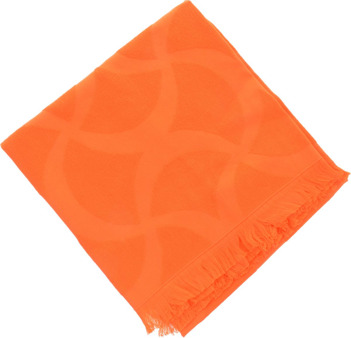 Полотенце Issimo Home Rondelle, цвет: оранжевый, 70 x 140 см5012Полотенце Issimo Home Rondelle выполнено из 100% хлопка. Изделие отлично впитывает влагу, быстро сохнет, сохраняет яркость цвета и не теряет форму даже после многократных стирок. Полотенце очень практично и неприхотливо в уходе. Такое полотенце прекрасно дополнит интерьер ванной комнаты.