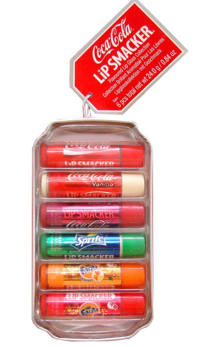 Lip Smacker Набор бальзамов для губ Coca-Cola, Fanta, Sprite, 6 шт28420_красныйLip Smacker – это оригинальные блески и бальзамы для губ с самыми разнообразными ароматами. Прекрасно смягчают и увлажняют губы, придавая им сияние.