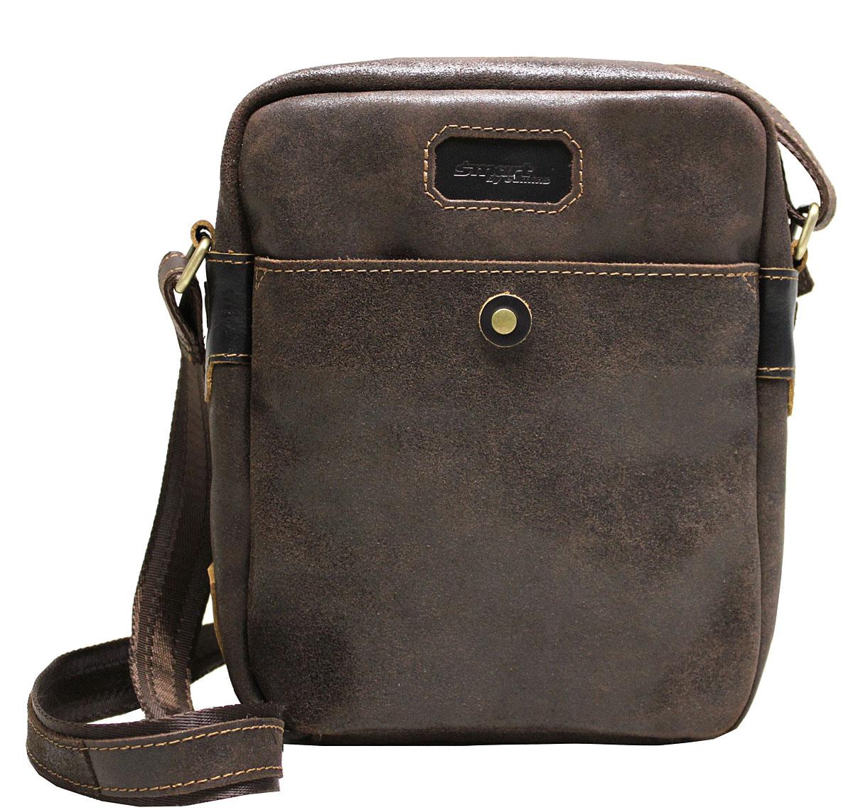Сумка-планшет мужская Edmins Smart by Edmins, цвет: коричневый. 14С656КЗ73298с-1Мужская сумка Edmins имеет одно отделение, закрывающееся на застежку-молнию. Оснащена регулируемым плечевым ремнем. C тыльной стороны сумки расположен прорезной карман на застежке-молнии. С передней стороны имеется накладной карман.
