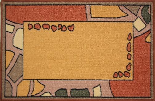 Коврик для ванной MAC Carpet Розетта, цвет: коричневый, 50 х 76 см80653Коврики из нейлона на резиновой основе с успехом могут применяться как в ванных комнатах ,так и во всех других помещениях,где необходима защита от влаги.Нейлон обеспечивает повышенную износостойкость и простоту в уходе.