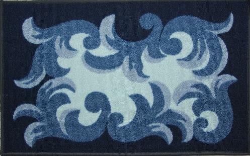Коврик для ванной MAC Carpet Розетта, цвет: синий, 44 х 70 см106-029Коврики из нейлона на резиновой основе с успехом могут применяться как в ванных комнатах ,так и во всех других помещениях,где необходима защита от влаги.Нейлон обеспечивает повышенную износостойкость и простоту в уходе.
