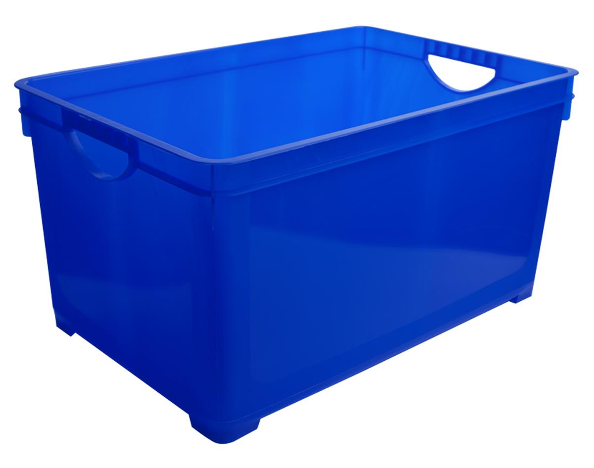 Ящик для хранения BranQ, цвет: синий, 48 лBQ1004СНЛЕГОУниверсальный ящик для хранения BranQ, выполненный из прочного цветного пластика, поможет правильно организовать пространство в доме и сэкономить место. В нем можно хранить все, что угодно: одежду, обувь, детские игрушки и многое другое. Прочный каркас ящика позволит хранить как легкие вещи, так и переносить собранный урожай овощей или фруктов. Ящик оснащен двумя ручками для удобной транспортировки.