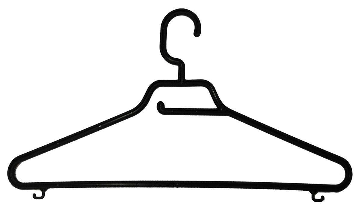 Вешалка BranQ Keeper, с перекладиной, длина 42,5 см10503Вешалка BranQ Keeper изготовлена из прочного пластика. Она оснащена закругленными плечиками, перекладиной и крючками. Вешалка - это незаменимая вещь для того, чтобы ваша одежда всегда оставалась в хорошем состоянии.