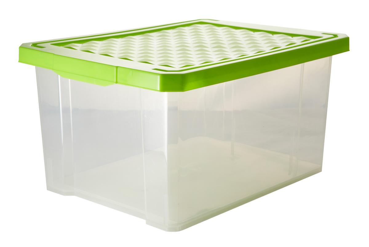 Ящик для хранения BranQ Optima, цвет: зеленый, прозрачный, 12 лS03301004Универсальный ящик для хранения BranQ Optima, выполненный из прочного пластика, поможет правильно организовать пространство в доме и сэкономить место. В нем можно хранить все, что угодно: одежду, обувь, детские игрушки и многое другое. Прочный каркас ящика позволит хранить как легкие вещи, так и переносить собранный урожай овощей или фруктов. Изделие также оснащено крышкой, которая защитит вещи от пыли, грязи и влаги.