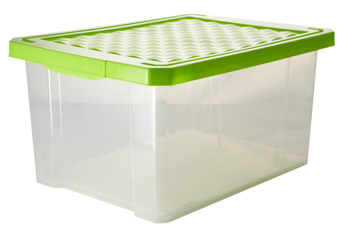 Ящик для хранения BranQ Optima, цвет: зеленый, прозрачный, 17 лUP210DFУниверсальный ящик для хранения BranQ Optima, выполненный из прочного пластика, поможет правильно организовать пространство в доме и сэкономить место. В нем можно хранить все, что угодно: одежду, обувь, детские игрушки и многое другое. Прочный каркас ящика позволит хранить как легкие вещи, так и переносить собранный урожай овощей или фруктов. Изделие оснащено крышкой, которая защитит вещи от пыли, грязи и влаги.