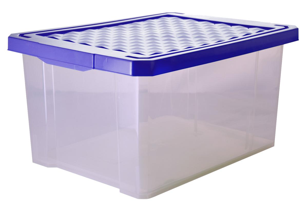 Ящик для хранения BranQ Optima, цвет: синий, прозрачный, 17 лES-412Универсальный ящик для хранения BranQ Optima, выполненный из прочного пластика, поможет правильно организовать пространство в доме и сэкономить место. В нем можно хранить все, что угодно: одежду, обувь, детские игрушки и многое другое. Прочный каркас ящика позволит хранить как легкие вещи, так и переносить собранный урожай овощей или фруктов. Изделие оснащено крышкой, которая защитит вещи от пыли, грязи и влаги.