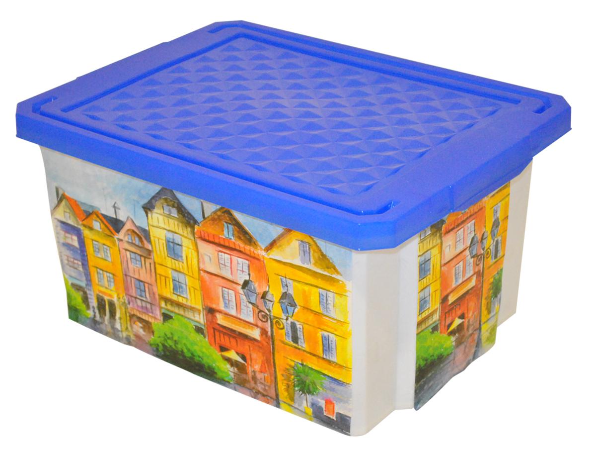 Ящик для хранения BranQ Optima. Город, 12 лBQ2583ГРУниверсальный ящик для хранения BranQ Optima. Город, выполненный из прочного пластика, поможет правильно организовать пространство в доме и сэкономить место. Ящик, декорированный оригинальным принтом, впишется в любой интерьер и дополнит его. В нем можно хранить все, что угодно: одежду, обувь, детские игрушки и многое другое. Прочный каркас ящика позволит хранить как легкие вещи, так и переносить собранный урожай овощей или фруктов. Изделие оснащено крышкой, которая защитит вещи от пыли, грязи и влаги.