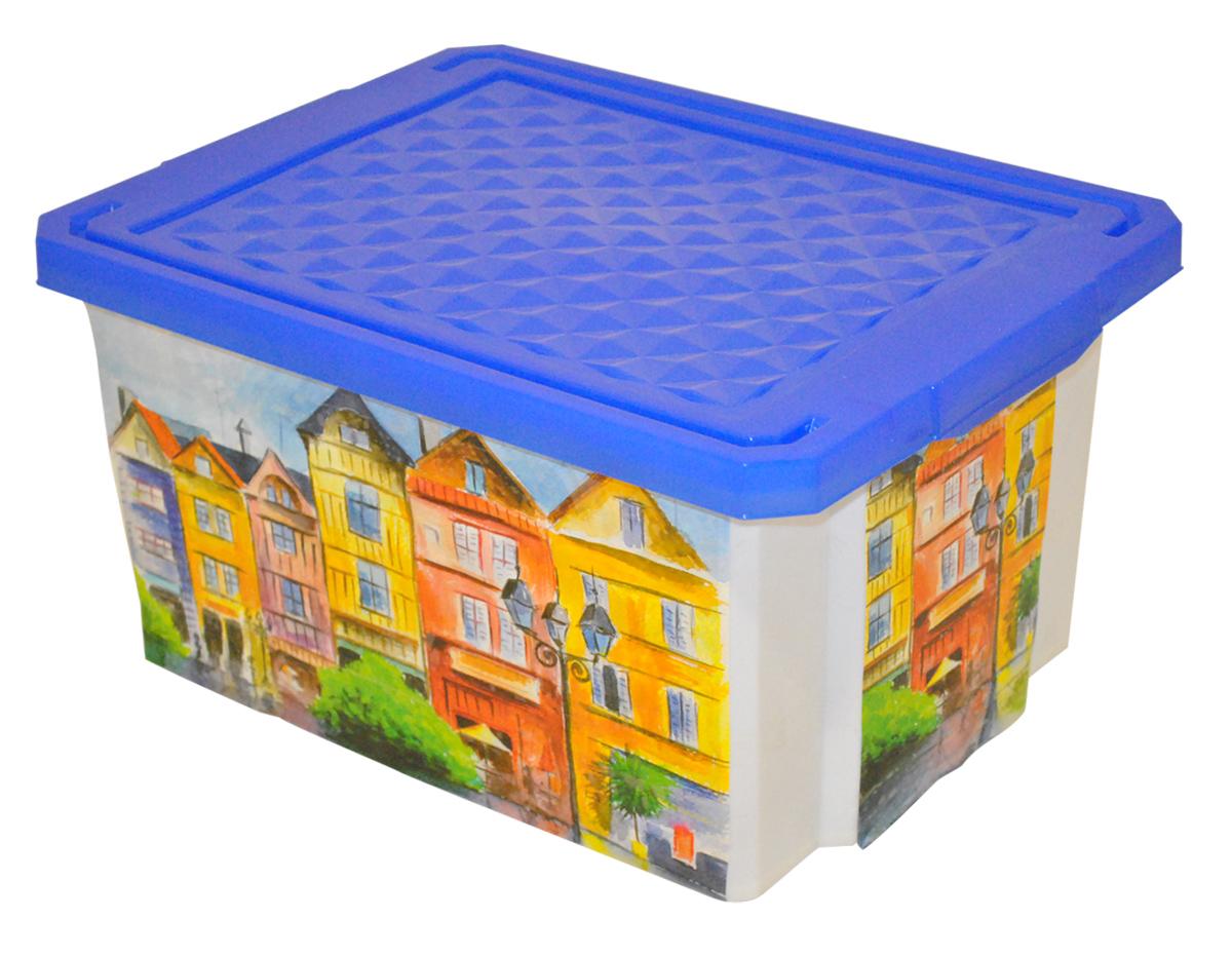 Ящик для хранения BranQ Optima. Город, 17 лBQ2584ГРУниверсальный ящик для хранения BranQ Optima. Город, выполненный из прочного пластика, поможет правильно организовать пространство в доме и сэкономить место. Ящик, декорированный оригинальным принтом, впишется в любой интерьер и дополнит его. В нем можно хранить все, что угодно: одежду, обувь, детские игрушки и многое другое. Прочный каркас ящика позволит хранить как легкие вещи, так и переносить собранный урожай овощей или фруктов. Изделие оснащено крышкой, которая защитит вещи от пыли, грязи и влаги.