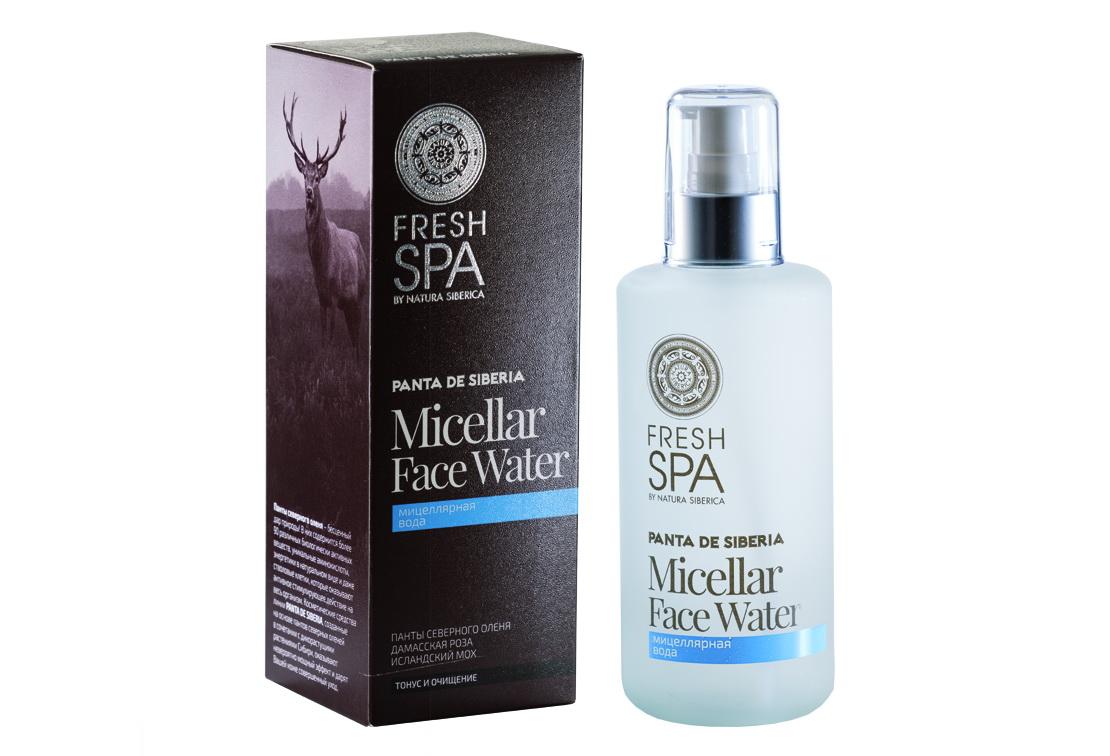 Fresh Spa Вода мицелярная Panta De Siberika, 200 млFS-00103Нежная мицеллярная вода с активным натуральным составом тщательно очищает кожу от макияжа и различных загрязнений, питает и увлажняет, идеально тонизирует кожу лица, не повреждая ее гидро – липидный слой. Панты северного оленя содержат уникальный комплекс питательных веществ: 20 аминокислот, 25 микроэлементов,минеральные соли, сложные органические соединения, энзимы и витамины, проникая в кожу, активизируют клеточный метаболизм. Насыщают кожу всеми необходимыми витаминами и микроэлементами, восстанавливают ее упругость и заметно омолаживают. Органический экстракт белой даурской розы активизирует обменные процессы, выравнивает цвет лица. Повышает иммунитет и защищает кожу от обезвоживания. Дарит нежный тонкий аромат и поднимает настроение. Органическийэкстракт исландского мха обладает антибактериальными и антисептическими свойствами, смягчает и заживляет кожу.Эффект: Кожа бережно и тщательно очищена от загрязнений и макияжа; безупречное чувство свежести.