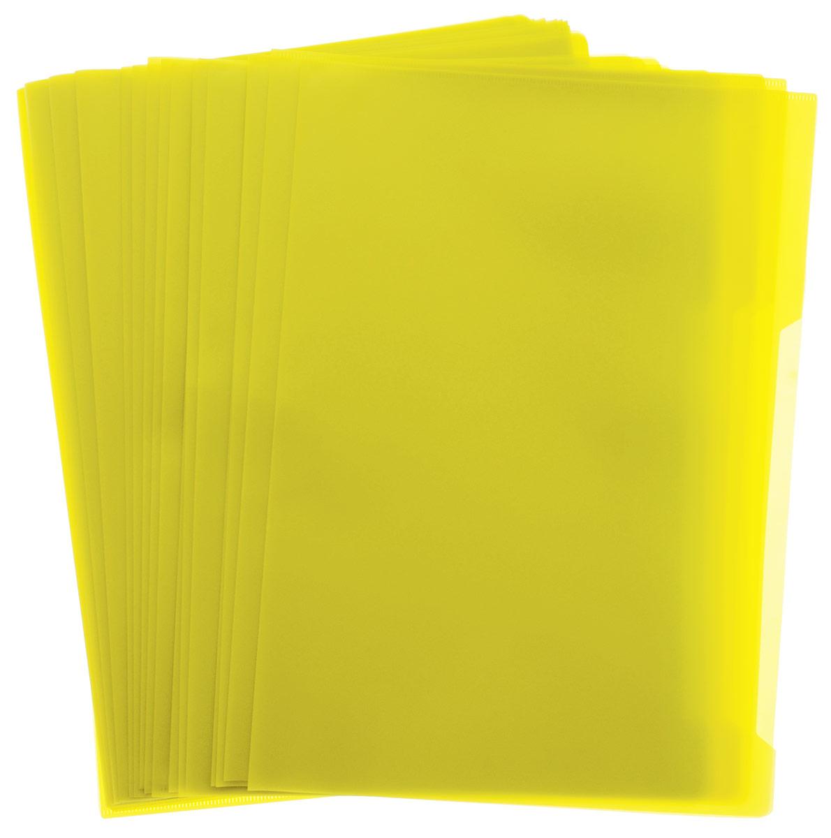 Durable Папка-уголок цвет желтый 50 штFS-36054Папка-уголок Durable, изготовленная из высококачественного полипропилена, это удобный и практичный офисный инструмент, предназначенный для хранения и транспортировки рабочих бумаг и документов формата А4. Папка оснащена выемкой для перелистывания листов. В наборе - 50 папок.Папка-уголок - это незаменимый атрибут для студента, школьника, офисного работника. Такая папка надежно сохранит ваши документы и сбережет их от повреждений, пыли и влаги.
