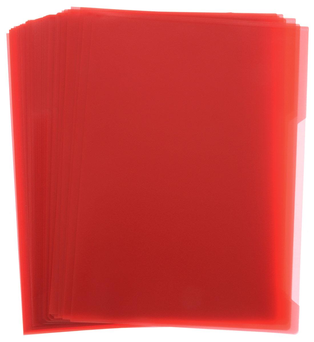 Durable Папка-уголок цвет красный 50 штFS-36054Папка-уголок Durable изготовлена из высококачественного полипропилена. Это удобный и практичный офисный инструмент, предназначенный для хранения и транспортировки рабочих бумаг и документов формата А4. Папка оснащена выемкой для перелистывания листов. В наборе - 50 папок.Папка-уголок - это незаменимый атрибут для студента, школьника, офисного работника. Такая папка надежно сохранит ваши документы и сбережет их от повреждений, пыли и влаги.
