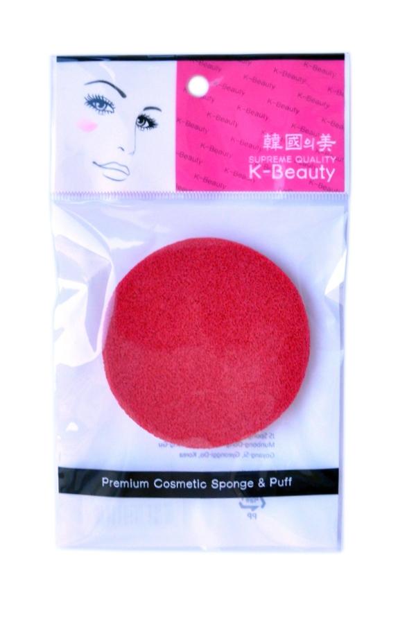 K-Beauty Спонж косметический для очищения кожи лица, красный, 1 шт