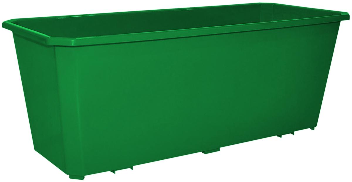 Ящик балконный InGreen, цвет: темно-зеленый, 40 х 17 х 15 см. ING1801ТЗЛING1801ТЗЛБалконный ящик InGreen, изготовленный из высококачественного цветного пластика, предназначен для выращивания цветов и рассады как на балконе, так и в комнатных условиях.