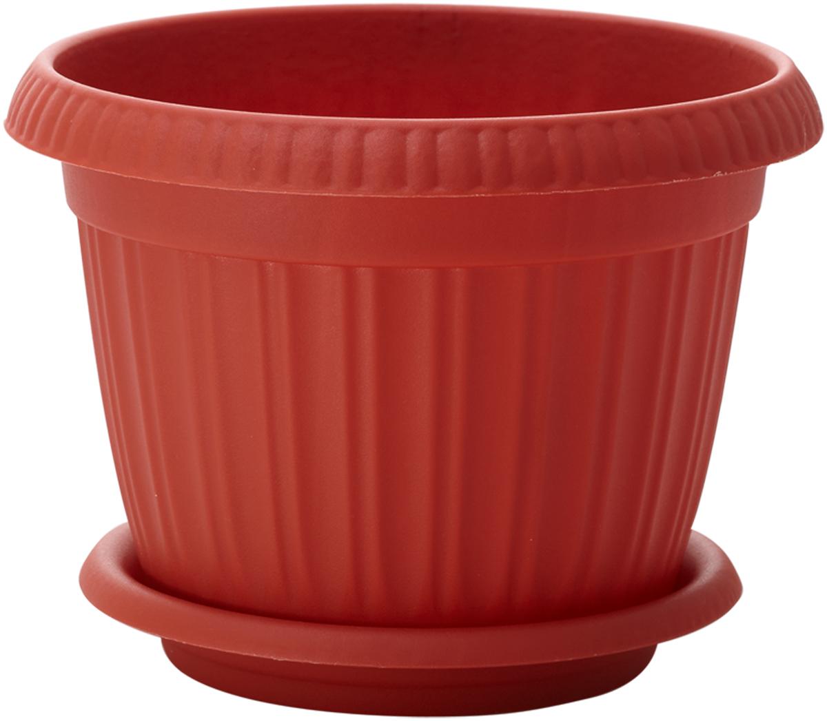 Горшок для цветов InGreen Таити, с подставкой, цвет: терракотовый, диаметр 33 смING41033FТРГоршок InGreen Таити, выполненный из высококачественного полипропилена (пластика), предназначен для выращивания комнатных цветов, растений и трав. Специальная конструкция обеспечивает вентиляцию в корневой системе растения, а дренажные отверстия позволяют выходить лишней влаге из почвы. Такой горшок порадует вас современным дизайном и функциональностью, а также оригинально украсит интерьер любого помещения. Диаметр горшка (по верхнему краю): 33 см. Высота горшка: 25 см.
