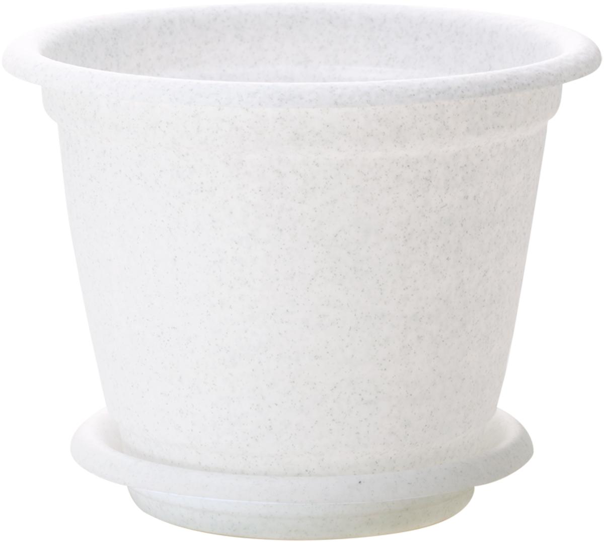 """Горшок для цветов InGreen """"Натура"""", с поддоном, цвет: мраморный, диаметр 24 см ING43024FМР"""