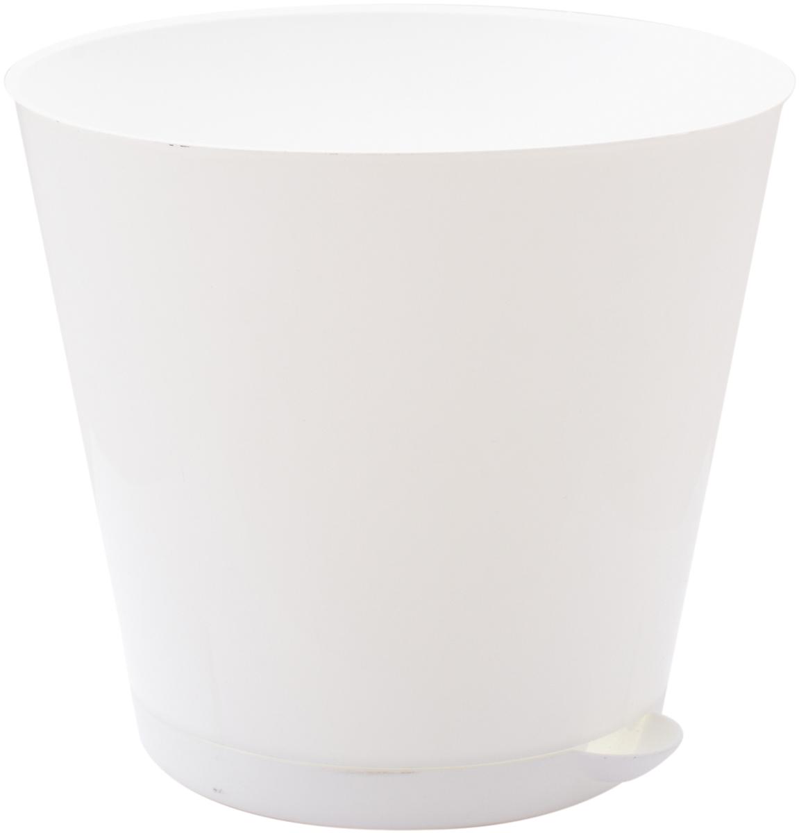 """Горшок для цветов InGreen """"Крит"""", с системой прикорневого полива, цвет: белый, диаметр 16 см ING46016БЛ-16РS"""
