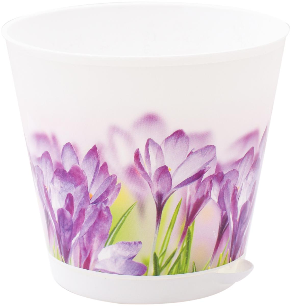 """Горшок для цветов InGreen """"Крит. Цветы"""", с системой прикорневого полива, диаметр 16 см ING46016ЦВЕ"""
