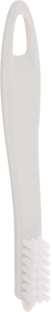 Щетка для чистки овощей Tescoma Presto, цвет: белый, длина 18,5 см10503Щетка Tescoma Presto, выполненная из прочного пластика, отлично подходит для очистки картофеля, корнеплодов, фруктов, грибов и многого другого. Изделие имеет острый конец для удаления глазков и скребок для удаления грязи.Не рекомендуется мыть в посудомоечной машине.