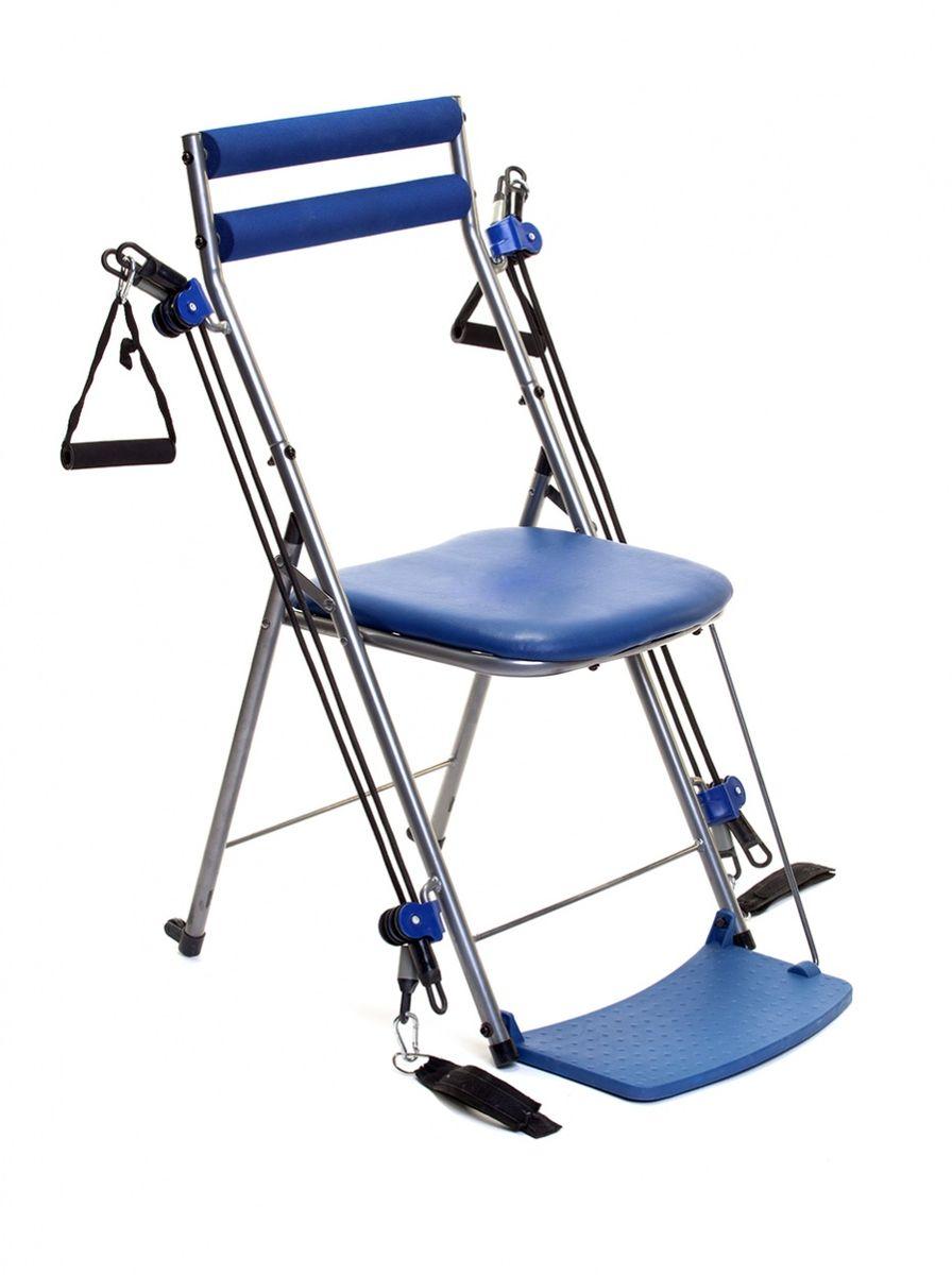 Стул-тренажер Bradex Фитнес станция, цвет: синий. SF 0155Хот ШейперсСтул-тренажер Bradex Фитнес станция изготовлен из качественных материалов. Его простая, но эффективная структура позволяет:- эффективно тренировать все мышцы тела;- улучшать гибкость, эластичность мышц;- развивать выносливость.Выполняйте более 50 разных упражнений при помощи стула-тренажера прямо в офисе или у себя в комнате. Этот удобный, безопасный и простой в использовании тренажер подходит для всех возрастов и уровней натренированности.В сложенном виде он помещается под кроватью или в шкафу.Стул-тренажер Bradex Фитнес станция - полноценная тренировка тогда, когда вам удобно.Размеры: 110 х 54 х 12 см.Вес: 5,1 кг.