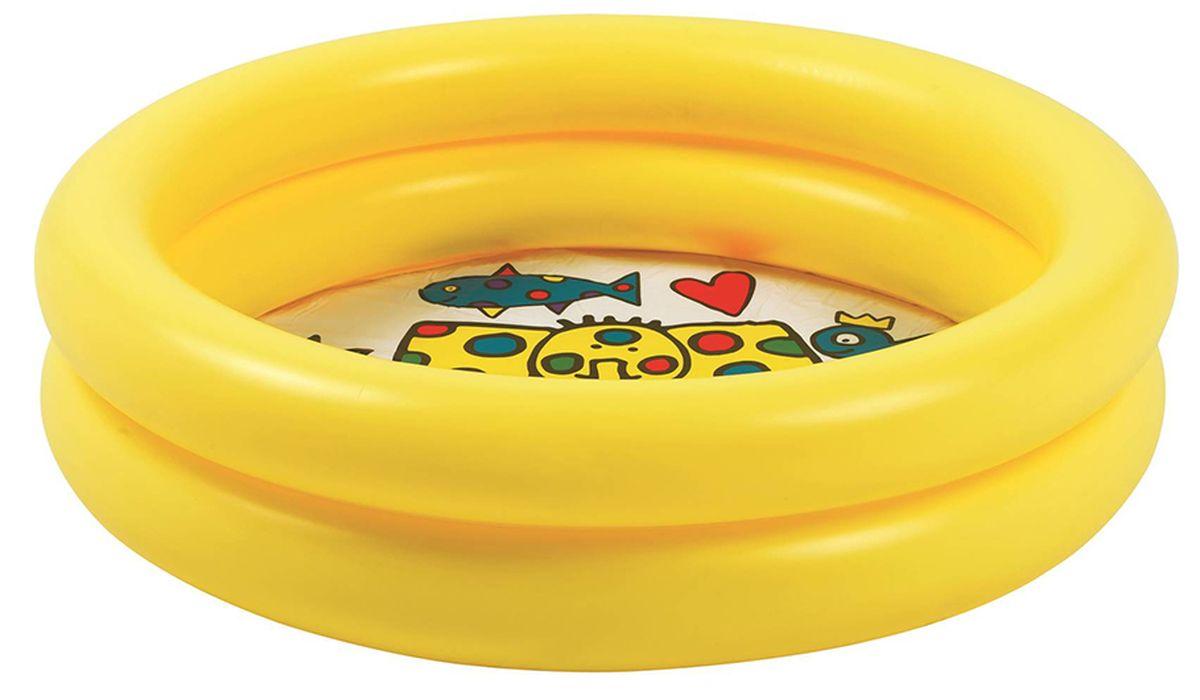 "Бассейн надувной Jilong ""Circular Kiddy Pool"", цвет: желтый, 76 х 20 см JL016007NPF"