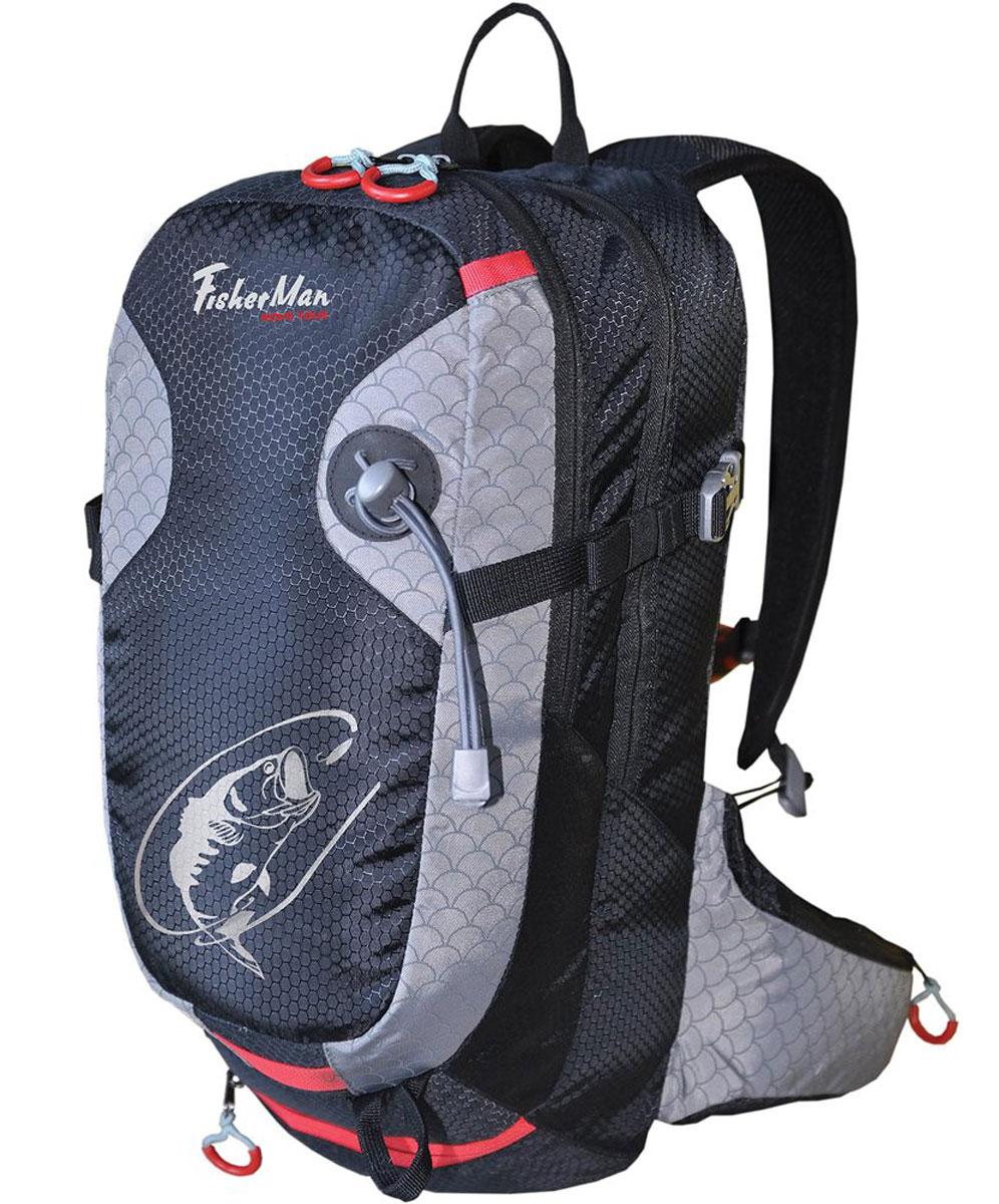 Рюкзак для рыбалки Nova Tour Дартер PRO, цвет: черный, 15 л162Рюкзак для рыбалки Nova Tour Дартер PRO, цвет: черный, 15 л