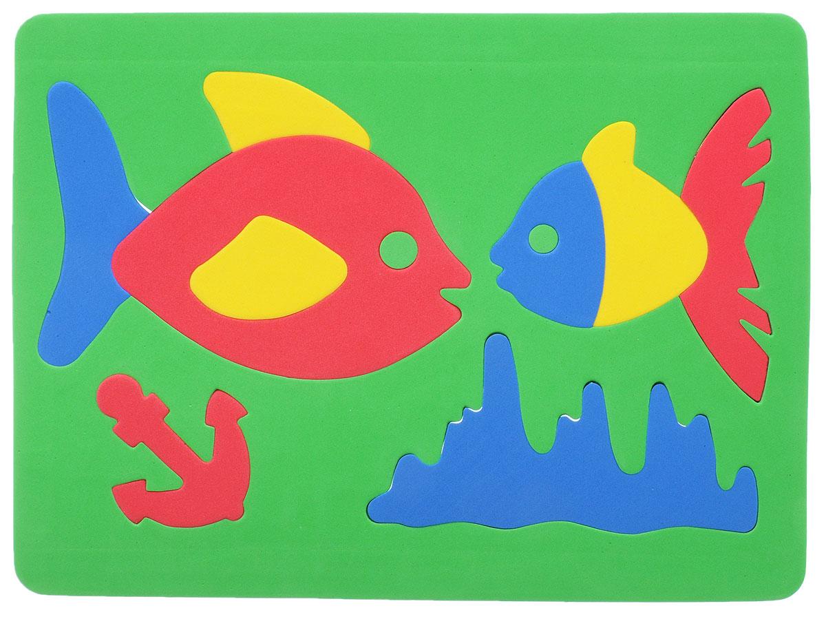 Фантазер Пазл для малышей Рыбки цвет основы зеленый 063551Р_зеленый