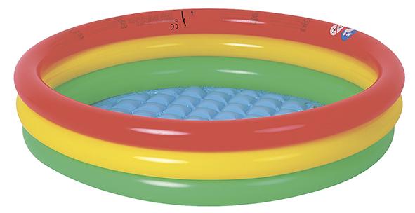 Бассейн надувной Jilong Round Baby, 100 х 22 смJL017218NPFБассейн надувной JILONG  ROUND BABY POOL, Возраст 2-6 лет Для использования на даче и природе. - Размер в рабочеи состоянии:100x22см - Объем - 95 литров - Мягкое надувное дно - 3 кольца - Самоклеящаяся заплатка в комплекте Артикул: JL017218NPF Материал: ПВХ Упаковка: полиэтиленовый пакет Размер упаковки:39х27х2,5см Вес: 0,730 кг Компания JILONG это широкий выбор продукции высокого качества и отличный выбор для отдыха на природе. Характеристики: Бренд: JILONG Производитель: Китай Упаковка: полиэтиленовый пакет Размер упаковки:39х27х2,5см Размер бассейна:100x22 см Объем: 95 литров Материал:ПВХ Вес:0,730 кг Артикул: JL017218NPF