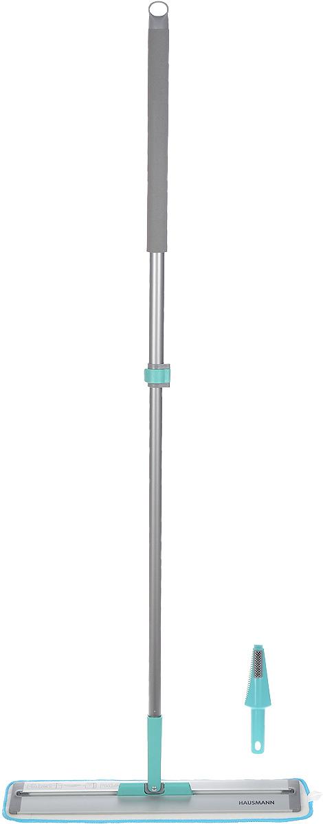 Швабра Hausmann Cosmic Home, с телескопической ручкой, длина 85-135 смHM-45Швабра Hausmann Cosmic Home, выполненная из металла и пластика, предназначена для сухой и влажной уборки в доме. Изделие оснащено удобной телескопической ручкой. На конце ручки имеется специальная петля, благодаря которой швабру можно подвесить в любом удобном месте. Особенностью данной швабры является слайд-механизм основания, который удлиняет платформу, позволяя очистить пространства под стоящими на полу предметами, кроватями, тумбочками. Сменная насадка выполнена из микрофибры, которая впитывает воду и грязь подобно губке. Мягкая поверхность насадки глубоко очищает и не оставляет разводов и царапин на полу. Длина ручки: 85-135 см. Размер насадки: 54 х 12,5 см.