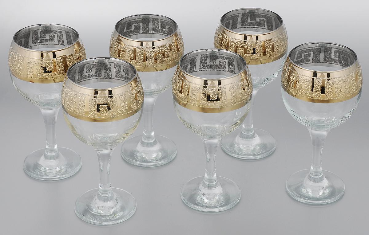 Набор бокалов для вина Мусатов Греция, 260 мл, 6 шт411/40Набор Мусатов Греция состоит из 6 бокалов, изготовленных из высококачественного стекла. Бокалы имеют прозрачную поверхность и декорированы позолоченной окантовкой с орнаментом. Набор предназначен для подачи вина. Набор фужеров Мусатов Бьюти прекрасно оформит праздничный стол и создаст приятную атмосферу за романтическим ужином. Такой набор также станет хорошим подарком к любому случаю. Диаметр бокала (по верхнему краю): 6,5 см. Высота бокала: 16 см. Диаметр основания бокала: 6,5 см.