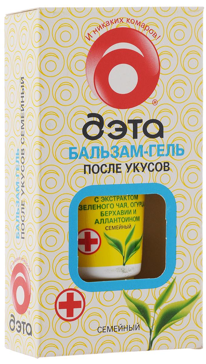 Бальзам-гель после укусов насекомых Дэта Семейный, с экстрактом зеленого чая, 20 мл66704504Бальзам-гель Дэта Семейный эффективен для устранения неприятных ощущений после укусов насекомых. Бальзам мягко охлаждает кожу, снимает зуд и покраснения. Экстракт зеленого чая, входящий в состав бальзама, является природным антиоксидантом, обладает противовоспалительным действием. Экстракт огурца снимает отечность, а экстракт берхавии оказывает успокаивающее действие. Бальзам хорошо увлажняет и питает кожу тела. Состав: вода, экстракт зеленого чая, экстракт огурца, экстракт берхавии раскидистой, метилпарабен, пропилпарабен, загуститель, аллантоин, триэтаноламин, отдушка. Товар сертифицирован.