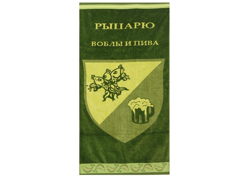 Полотенце Soavita Premium. Рыцарь, цвет: зеленый, желтый, 70 х 140 см45616Перед использованием постирать при температуре не выше 40 градусов