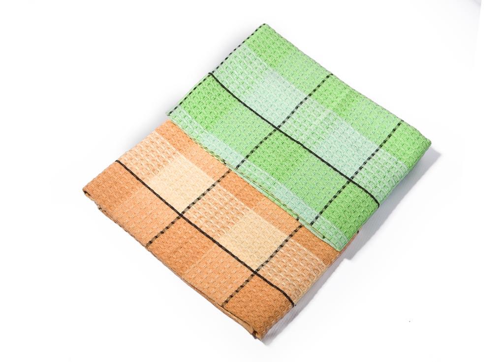 Набор кухонных полотенец Soavita Клетка, цвет: светло-зеленый, светло-оранжевый, 40 х 70 см, 3 шт52340Вафельные полотенца Soavita Клетка выполнены из 100% хлопка и оформлены рисунком в виде клетки. Изделия предназначены для использования на кухне и в столовой. Отлично впитывают влагу. Качество материала гарантирует безопасность не только взрослых, но и самых маленьких членов семьи. Полотенца Soavita идеально дополнят интерьер вашей кухни и создадут атмосферу уюта и комфорта.