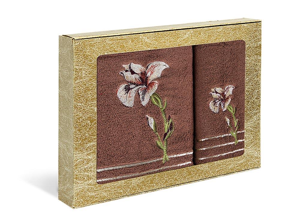 Набор полотенец Soavita Iris, цвет: коричневый, 2 шт71200Набор Soavita Iris состоит из двух полотенец разного размера, которые выполнены из 100% хлопка. Изделия отлично впитывают влагу, быстро сохнут, сохраняют яркость цвета и не теряют форму даже после многократных стирок. Такие полотенца очень практичны и неприхотливы в уходе. Набор Soavita создаст прекрасное настроение и украсит интерьер в ванной комнате.