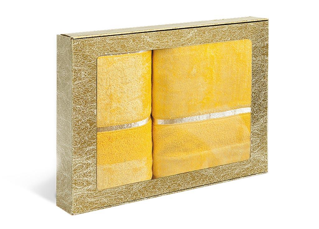 Набор махровых полотенец Soavita Louise, цвет: желтый, 2 шт531-401Махровое полотно создается из хлопковых нитей, которые, в свою очередь, прядутся из множества хлопковых волокон. Чем длиннее эти волокна, тем прочнее будет нить, и, соответственно, изделие. Длина составляющих хлопковую нить волокон влияет и на фактуру получаемой ткани: чем они длиннее, тем мягче и пушистее получится махровое изделие, тем лучше будет впитывать изделие воду. Хотя на впитывающие качество махры – ее гигроскопичность, не в последнюю очередь влияет состав волокна. Мягкая махровая ткань отлично впитывает влагу и быстро сохнет.
