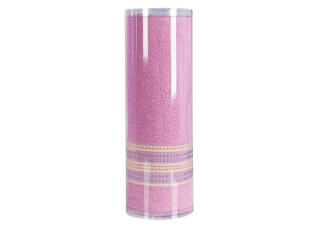 Полотенце махровое Soavita Eo. Поинт, цвет: розовый, 70 х 140 см74678Махровое полотно создается из хлопковых нитей, которые, в свою очередь, прядутся из множества хлопковых волокон. Чем длиннее эти волокна, тем прочнее будет нить, и, соответственно, изделие. Длина составляющих хлопковую нить волокон влияет и на фактуру получаемой ткани: чем они длиннее, тем мягче и пушистее получится махровое изделие, тем лучше будет впитывать изделие воду. Хотя на впитывающие качество махры – ее гигроскопичность, не в последнюю очередь влияет состав волокна. Мягкая махровая ткань отлично впитывает влагу и быстро сохнет. Soavita – это популярный бренд домашнего текстиля. Дизайнерская студия этой фирмы находится во Флоренции, Италия. Производство перенесено в Китай, чтобы сделать продукцию более доступной для покупателей. Таким образом, вы имеете возможность покупать продукцию европейского качества совсем не дорого. Домашний текстиль прослужит вам долго: все детали качественно прошиты, ткани очень плотные, рисунок наносится безопасными для здоровья красителями, не...