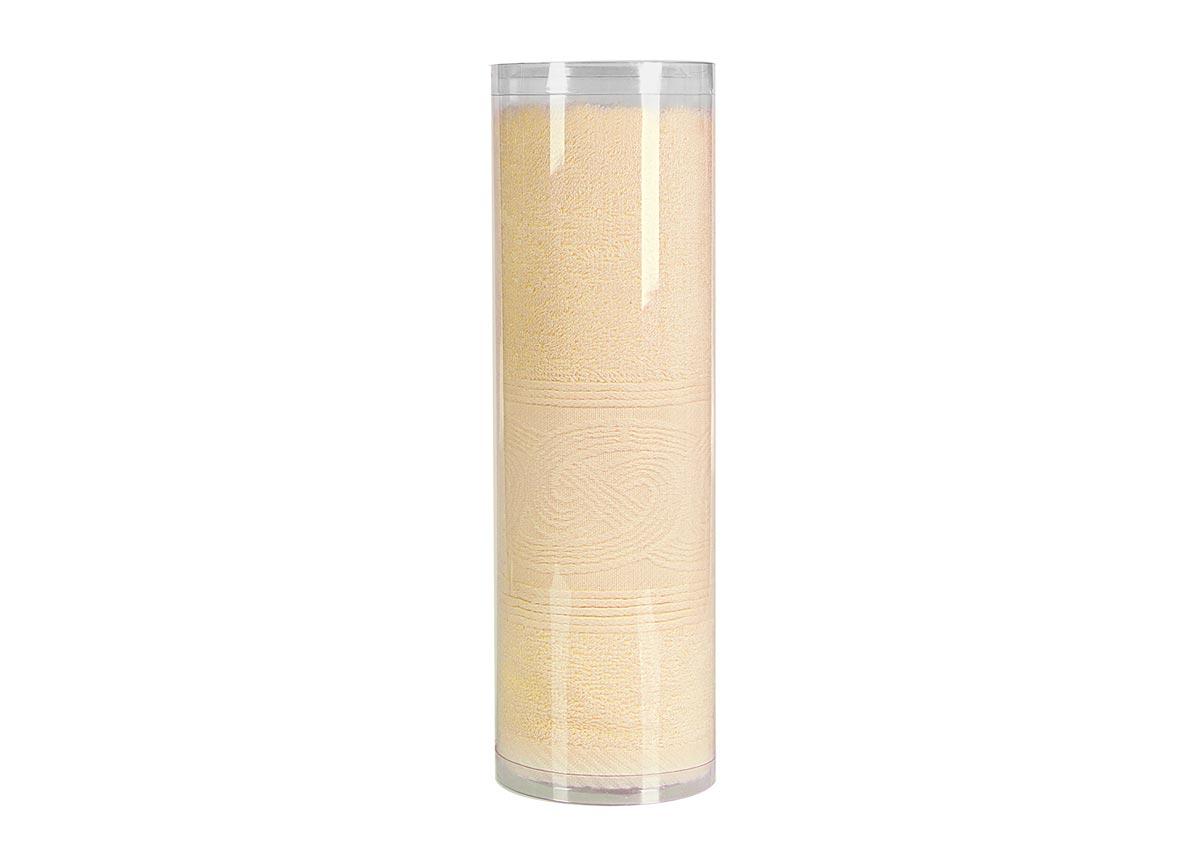 "Полотенце махровое Soavita ""Eo. Жемчуг"", цвет: желтый, 70 х 130 см 74685"