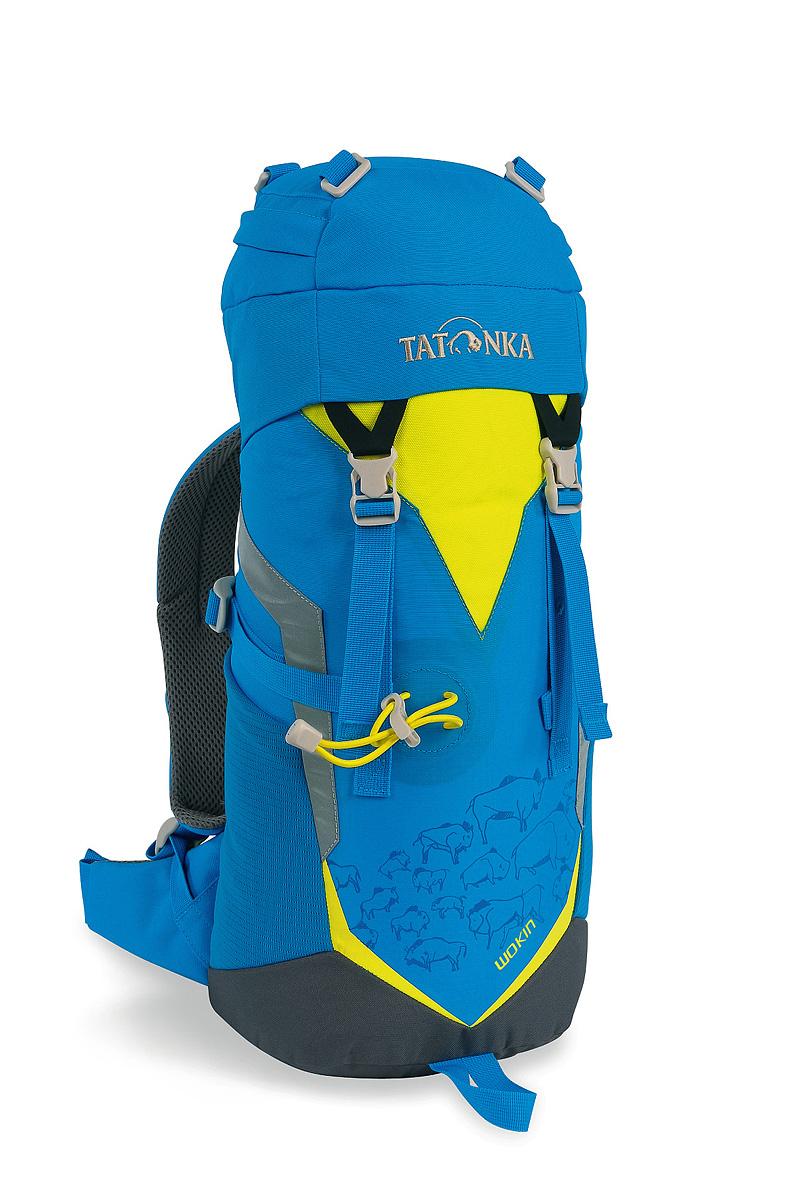 Рюкзак туристический детский Tatonka Wokin, цвет: синий, желтый, 11 лBP-001 BKДетский туристический рюкзак Tatonka Wokin, выполненный из качественных материалов, предназначен для юных путешественников c шести лет. Смягченная несущая система рюкзака приспособлена к телосложению ребенка, а спортивный дизайн делает его взрослым.Особенности:- Несущая система Padded Back. - S-образный плечевой ремень.- Регулируемый по высоте нагрудный ремень.- Боковые утягивающие ремни.- Удобная ручка.- Карман на молнии в крышке рюкзака.- Основное отделение на шнуровке.- Боковые сетчатые карманы.- Табличка для имени внутри рюкзака.- Яркие светоотражающие элементы повышаю безопасность.