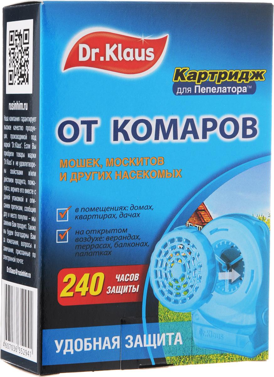 Картридж для пепелатора Dr.Klaus, на 240 часовDK35160031Картридж Dr.Klaus предназначен для защиты от комаров и других летающих насекомых ( москитов, мошек, мокрецов) на открытом воздухе (в лесу, парках, у водоемов, на приусадебных участках в безветренную погоду), а также в проветриваемых помещениях, автомобилях, палатках. Картридж рассчитан на работу в течение 240 часов. Состав: 30% флайтрин (трансфлутрин технический), технологические добавки. Товар сертифицирован.