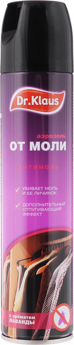 Аэрозоль от моли Dr.Klaus, с ароматом лаванды, 300 мл19201Средство Dr.Klaus предназначено для защиты шерсти, меха и изделий из них от повреждения молью и кожеедом. Обладает приятным ароматом лаванды.Состав: 0,25% ДВ-перметрин, 0,05% отдушка, растворитель.Товар сертифицирован.